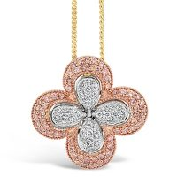 APDJ/10 Argyle Pink and White Diamond Pendant