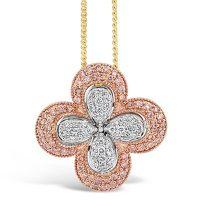 APDJ/10 Argyle Pink and White Diamond Pendant