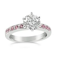 DJSP/47 Platinum Engagement Ring with Argyle Pink diamonds