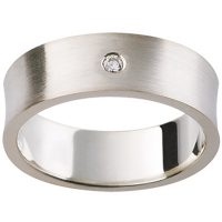 GW1 / 18ct White Gold Diamond set Wedding ring