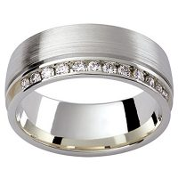 GW22 / 18ct white gold diamond set wedding ring
