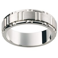 GW27 / 18ct White gold gents wedding ring