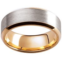 GW29 / 18ct white and yellow gold gents wedding ring