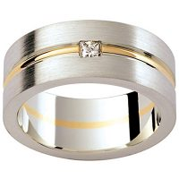 GW4 / 18ct White and yellow gold diamond set wedding ring
