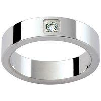 GW7 / 18ct White gold diamond set Gents wedding ring