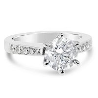 DVR20 / Platinum TripleEx H&A™ Diamond Engagement Ring