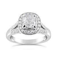 FSDR9/ 18ct Gold 1ct Diamond Halo Ring