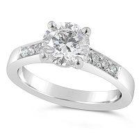 TDR20/ 18ct White Gold Diamond Engagement Ring
