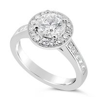 TDR21/ Platinum D Flawless Diamond Engagement Ring