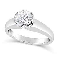 TDR11/ Platinum 1ct Diamond Solitaire Engagement Ring