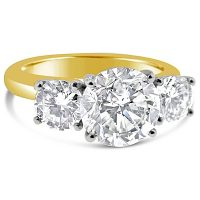 TDR12/ 3carat 18ct Gold Trilogy Engagement Ring