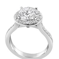 TDR13/ Platinum 2.3ct Diamond Halo Engagement Ring