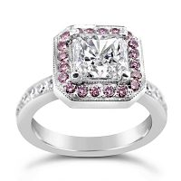 DRV1 / Platinum 1.5ct Radiant diamond ring with Argyle pink diamonds