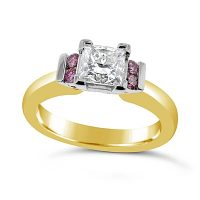DVR18 / 18ct Gold 1ct Argyle Pink and Diamond Ring