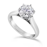 TDR31/ Platinum 1ct + Diamond Solitaire