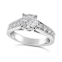 TDR37/ Platinum Diamond Engagement Ring