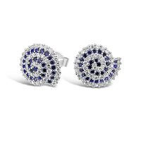 DE4/ 18ct White Gold Diamond and Sapphire Earrings