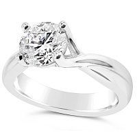 TDR40/ Platinum Diamond Solitaire