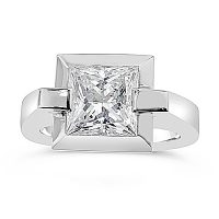 FSDS9/ Platinum 2.2ct  Princess Cut Diamond Solitaire