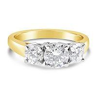TDR33/ 18ct Gold 1.5ct Diamond Trilogy Engagement Ring