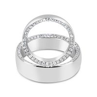 DWR13/ Platinum Diamond Wedding Rings