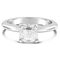 DVR9 / 18ct Asscher Cut Diamond Solitaire