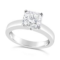 FSDS12/ Platinum 1.4ct  Cushion Cut Diamond Soliitaire