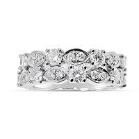 DWR15/ Platinum Diamond Wedding Ring