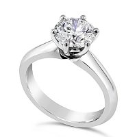 TDR42/ Platinum 1ct Diamond Solitaire