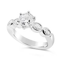 TDR36/ 18ct White Gold Engagement Ring