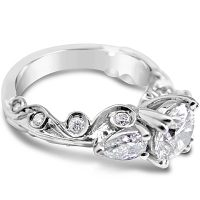 TDR25/ Platinum 1.1ct Diamond Engagement Ring