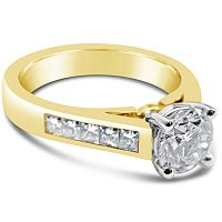 TDR29/ 18ct Yellow Gold Diamond Engagement Ring