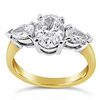 FSDR15/ 18ct Diamond Fancy Trilogy Engagement Ring