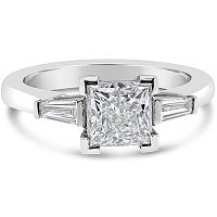 FSDR16/ Platinum 3 Stone Diamond Ring