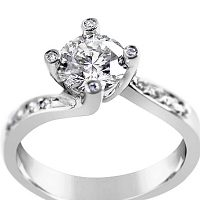 TDR26/ Platinum Diamond Engagement Ring
