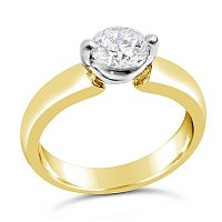 TDR27/ 18ct Yellow Gold Diamond Solitaire