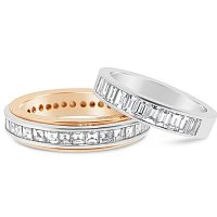 DWR18 / 18ct and platinum diamond wedding rings