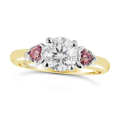 DJSP3/ Argyle Pink and White Diamond Engagement Ring