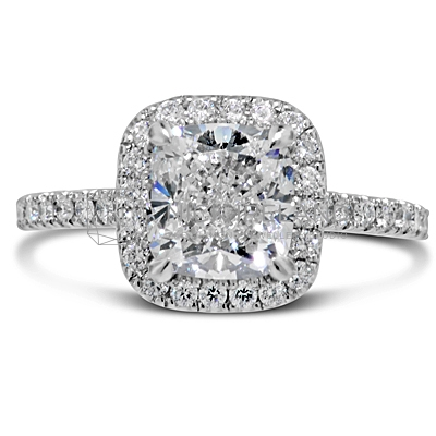 FSDR6/ Platinum 2ct Diamond Halo Engagement Ring