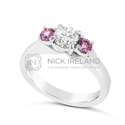 DJSP5/ Argyle Pink and White 3 stone