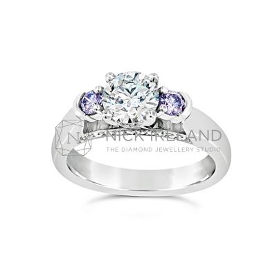 DJSP/39 Argyle Blue Violet diamond 3 stone