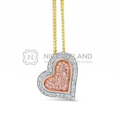 APDJ/5 18ct Gold Argyle Pink Diamond Heart Pendant