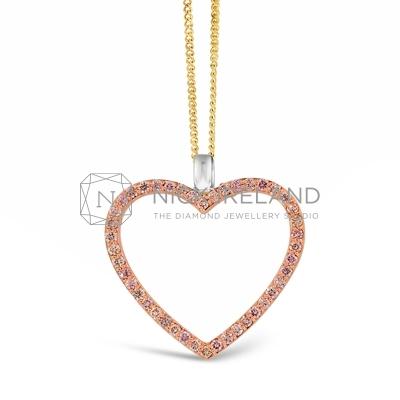 APDJ/9 18ct Rose Gold Argyle Pink Heart Pendant