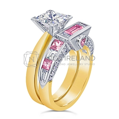 DJSP37/ 18ct and Platinum Argyle Pink Fitted Band