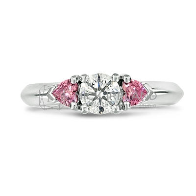 DJSP/46 Platinum Argyle Pink Diamond Engagement Ring