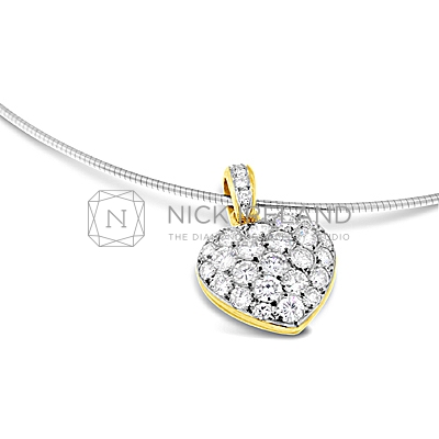 DBP5/ 18ct Diamond Heart Pendant