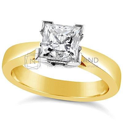 FSDS4/ 18ct Gold 1.25ct  Princess Solitaire Engagement Ring