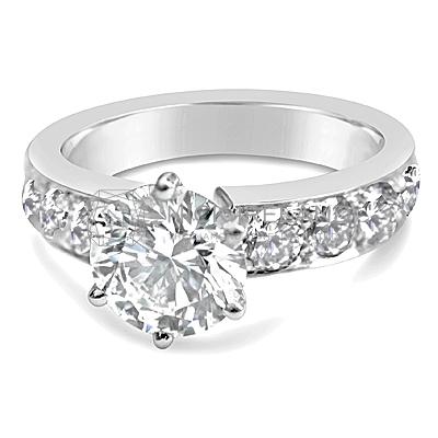 TDR17/ Platinum 2ct Diamond Engagement Ring