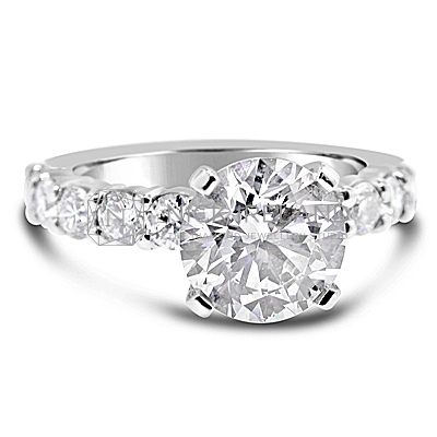 TDR18/ Platinum 1.5ct Diamond Engagement Ring