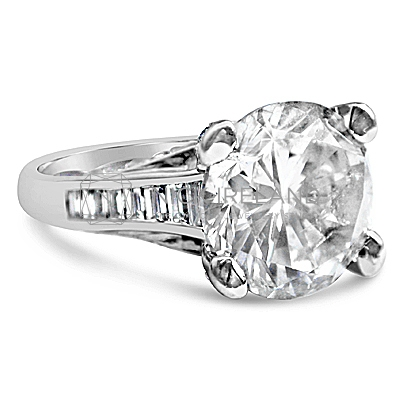 TDR19/ Platinum 5ct  Diamond Engagement Ring